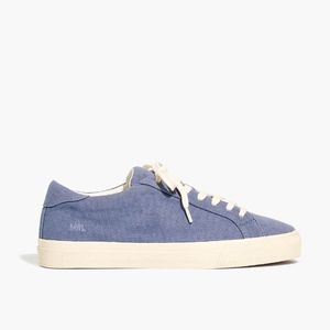 New MADEWELL Sidewalk Low-Top Sneakers Blue Canvas